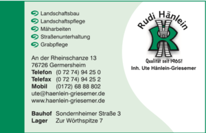 Landschaftsbau Rudi Hänlein, Germersheim